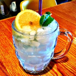Lemon Mint Cooler Recipe - A vodka spiked slushy lemonade drink to cool you off in the summer.