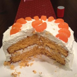 Orange Party Cake I Recipe - This recipe is from my Grandmother in Tennessee.  She made it for my family every visit, for 25 years.  I make it for my family now, it lasts maybe two days.