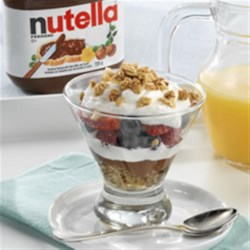 Fruit 'n Yogurt Parfait with NUTELLA(R) Recipe - Layer on your favourite fruit with granola, yogurt and NUTELLA(R) to add a touch of joy to your morning!