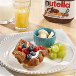French Toast Cups Topped with NUTELLA(R) Recipe - A fresh take on French Toast with the delicious taste of NUTELLA(R).