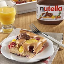 Fruity Toad in the Hole with NUTELLA(R) Recipe - This warm and delicious breakfast recipe is perfect for the whole family to enjoy!