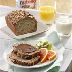 Banana Loaf with NUTELLA(R) Recipe - The perfect breakfast recipe for banana and NUTELLA(R) lovers!
