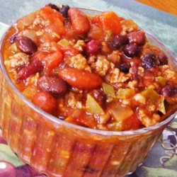 Old Mama's Fashioned Chili Recipe - Perfect for a Halloween dinner and sure to keep you warm while trick-or-treating, this spooky chili features ground beef, black beans, and kidney beans.