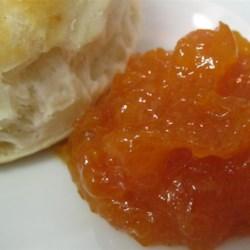 Dried Apricot Jam Recipe - Dried apricots with a hint of vanilla can be re-hydrated and made into jam any time of the year. Apricot jam makes a colorful and sweet gift everyone will enjoy.