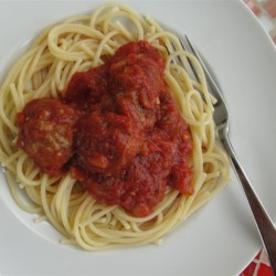 Spaghetti Sauce Recipe and Video - Quick and easy homemade spaghetti sauce with tomatoes, onions, garlic, basil and oregano.  Add your favorite vegetables and use fresh herbs if you have them.