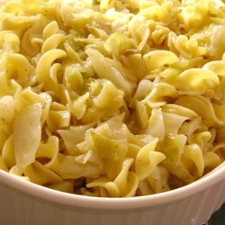 Haluski - Cabbage and Noodles Recipe - A simple side dish of baked noodles and cabbage is ready in less than an hour.