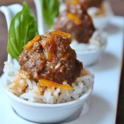 Spicy Orange Bison Balls Recipe - This recipe is inspired by the retro classic cocktail meatballs in grape jelly. I took that idea, along with my love of spicy orange beef, and came up with this combination.