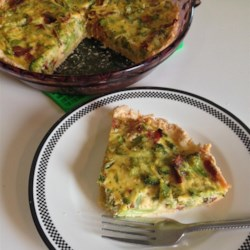 Broccoli Cheese Pie Recipe - This is somewhat like a quiche. The crust consists of Cheddar cheese, which is delicious. A must try.