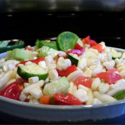 P.J.'s Fresh Corn Salad Recipe - My son in-law makes this salad during the summer. It is so refreshing on a hot day.