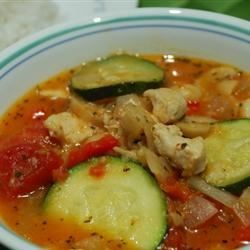 Zucchini and Pork Soup Recipe - At the end of the summer everyone tries to give each other extra zucchini from the garden. Use some in this delightful, veggie-packed pork soup, enough to feed a dinner party. Mushrooms, tomatoes, onions and bell peppers make it full-bodied and delicious!