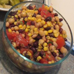 Southwestern 3-Bean Salad Recipe - This is a three-bean salad with a Southwestern twist.