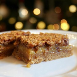 Yummy desserts complete your Christmas meal--like these pecan pie bars.