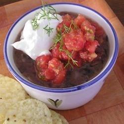 Black Beans with Pico de Gallo
