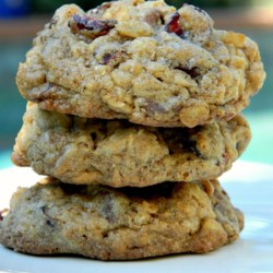 West Coast Trail Cookies Recipe - This perfect nut-free trail cookie, loaded with chocolate chips and dried cranberries, gets its name from the West Coast Trail on Vancouver Island.