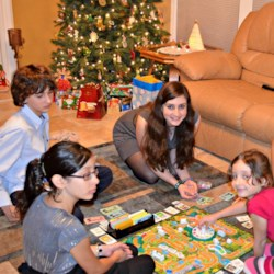 The kids playing Life