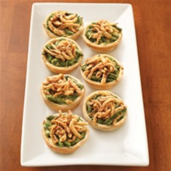 Green Bean Casserole Quiche Bites Recipe - Your favorite side in bite-size form.