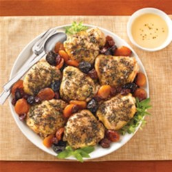 Roasted Chicken With Dried Fruit Recipe - A hearty dish with a sweet finish!