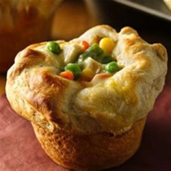Grands!(R) Mini Chicken Pot Pies Recipe - Chicken pot pie with just 4 ingredients? It couldn't get any easier!