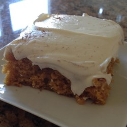 Pumpkin Bars with Cream Cheese Frosting Recipe - Pumpkin bars topped with a rich cream cheese frosting are a perfect ending to your holiday meal.