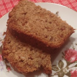 Whole Wheat Peanut Butter Banana Bread Recipe - This whole wheat banana bread is sweetened with honey and rich with peanut butter.