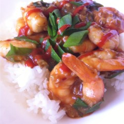 Szechwan Shrimp Recipe - Don't let some of the ingredients fool you--this spicy shrimp makes a simple, impressive dish, which I usually make for company. For more or less heat, adjust amount of red pepper. Serve over hot steamed rice.