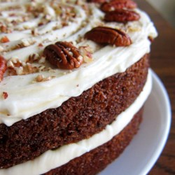Carrot Cake III Recipe - A simple, moist, yummy carrot cake with cream cheese frosting.