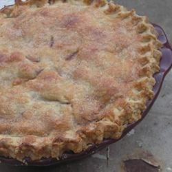 Blackberry Peach Pie Recipe - Using pre-made crusts, you can put together this delicious pie fairly quickly with some fresh peaches and blackberries, sugar, cinnamon, nutmeg, and a little cornstarch.