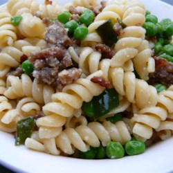 Bow-Tie Pasta with Sausage, Peas, and Mushrooms ~ RG Selection:  05, October 2013