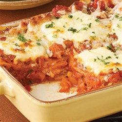Contadina(R) Butternut Squash Lasagna Recipe - This veggie lasagna features layers of butternut squash with fresh herbs and tomatoes and lots of cheese.