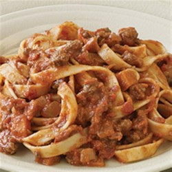 Contadina(R) Quick Bolognese Sauce Recipe - For a quick weeknight dinner, this Bolognese sauce with ground beef and veggies, beef broth or wine is a perfect dish for families on the go.