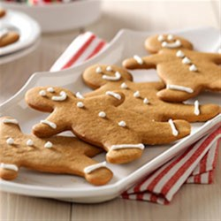 Gingerbread People from JELL-O Recipe - These cute little gingerbread people with butterscotch pudding in the dough make great tree decorations--and delicious snacks too!
