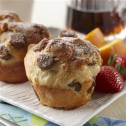 French Toast Sausage Fluffins Recipe - All the great flavors of French toast in a fun to eat no-knead fluffin!