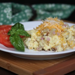 Scrambled Potatoes Recipe - This is a fantastic dish to serve for a Christmas Day breakfast or brunch.