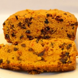 Cranberry Pumpkin Chip Bread Recipe - A rich and delicious addition to your holiday dessert table, this cranberry pumpkin chocolate chip bread is sure to please.