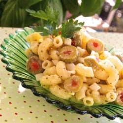 Olive Pasta Salad Recipe - Olives lovers will go crazy for this chilled macaroni salad!