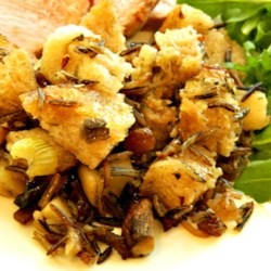 Stuffing Recipe Recipe - Apples, raisins, and sausage bring their distinctive flavors to this irresistibly fragrant and flavorful stuffing.