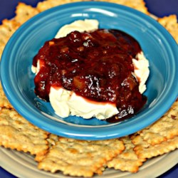 Hot Raspberry Spread Recipe - A spicy-hot raspberry spread. Serve this with your favorite crackers.