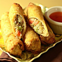 Blue's Lumpia Recipe - Ground beef and pork are blended with crunchy water chestnuts in this tasty version of the fried Filipino treat.