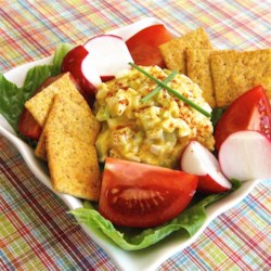 Yummy and Easy Egg Salad Recipe - A lighter version of egg salad has a healthy amount of fresh celery and green onion in a dressing made with reduced-fat mayonnaise, mustard, and horseradish for zing.