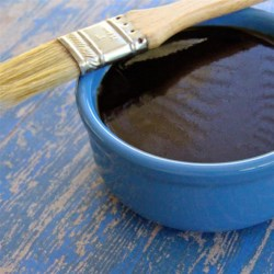 My Oh-Yeah Sauce Recipe - A sweet, dark brown barbecue sauce for pork, beef, or just about anything on the grill goes together quickly, and has a complex, sweet and tangy flavor with overtones of molasses, brown mustard, honey, and Asian sauces. This recipe makes a big batch.