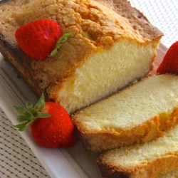 Crusty Loaf Cake Recipe - This is a never-fail pound cake with a crusty top.  It's delicious with coffee as well as ice cream.