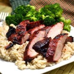 Char Siu (Chinese BBQ Pork) Recipe - Try this Chinese-style grilled pork with a sweet-and-sour marinade next time you break out the charcoal grill.