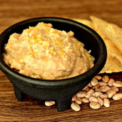 Shortcut Refried Beans Recipe - Forget to soak your beans, but will want to have burritos?  Simply grind them in your wheat grinder and boil some water.  In about 15 minutes it's time to eat.