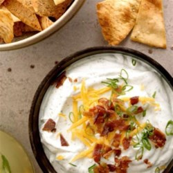 Hidden Valley Bacon and Cheddar Dip Recipe - Mix together sour cream, Hidden Valley (R) Dips Mix, cheddar cheese, and bacon and you have a tasty dip everyone will love.