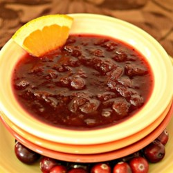 Apple Cider Cranberry Sauce Recipe - Apple cider, a hint of orange, and warm spices make this cranberry sauce very special indeed.