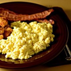 Alaskan Chocolate Scrambled Eggs Recipe - White chocolate instant coffee mix adds a new twist to scrambled eggs.