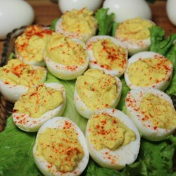 Sweet Deviled Eggs Recipe - A spoonful of sugar gives these classic deviled eggs a surprisingly delicious sweetness.