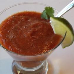 Pica De Gallo Inspired Gazpacho (Gluten-Free)