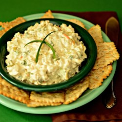 Water Chestnut Dip Recipe - Spicy (but not too hot!), crunchy, flavorful dip. Tastes delicious on buttery, round crackers or finger sandwiches. The longer it is allowed to marinate, the better it tastes.