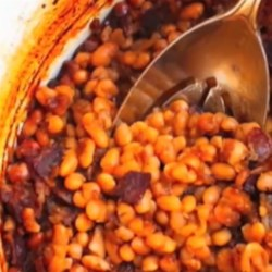Chef John's Boston Baked Beans Recipe - Bacon, navy beans, molasses, brown sugar, and mustard are the key ingredients in this simple, inexpensive side dish.